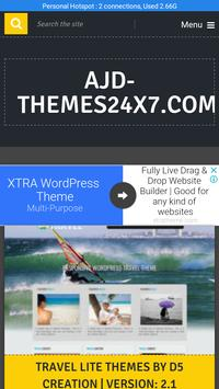WordPress: Themes24x7 | Make site | Website Ideas poster