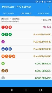 MTA Zero NYC Subway screenshot 1