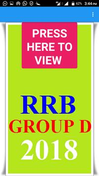 RRB GROUP D 2018 MODEL PAPER poster