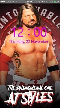 AJ Styles Lock Screen HD Wallpaper screenshot 2