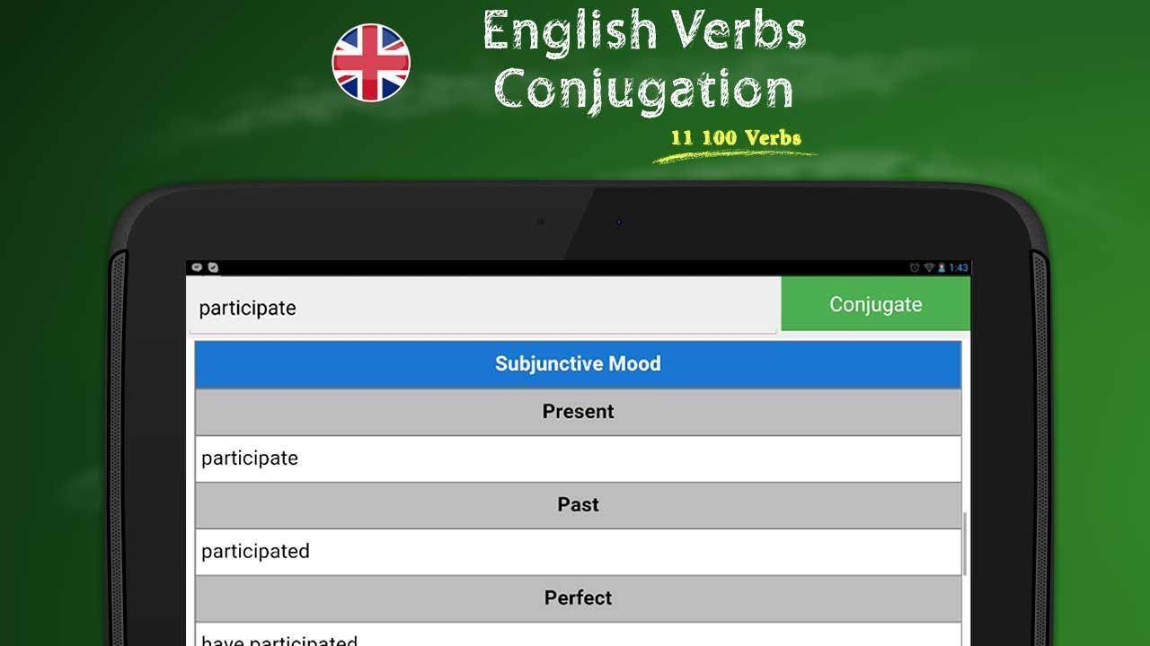 Conjugaison Des Verbes Anglais Pour Android Telechargez L Apk