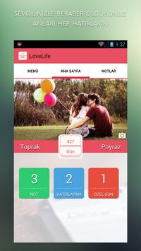 LoveLife - Love days counter poster