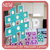 Awesome DIY Marquee Letters icon