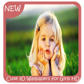 Cute 3D Wallpapers for Girls HD icon