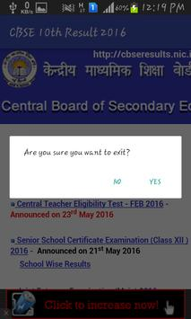 CBSE SSLC 10th Results 2016 apk screenshot