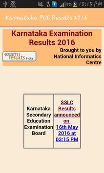 Karnataka PUC 12 Results 2016 apk screenshot