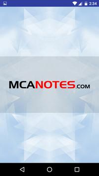 MCA Notes poster