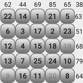 Number puzzle magic square icon