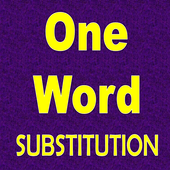 One Word Substitution quiz icon