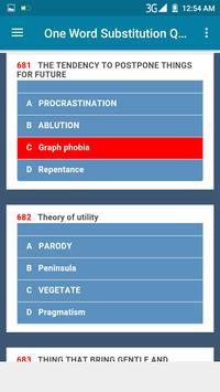 One Word Substitution quiz screenshot 2