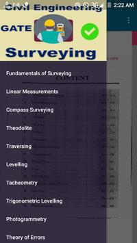 GATE Civil Engineering Surveying poster