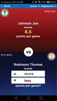 NBA Trivia : Higher or Lower screenshot 2