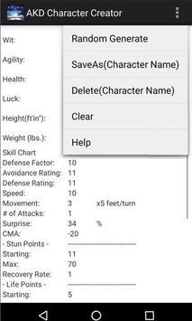 AKDCharCreate apk screenshot