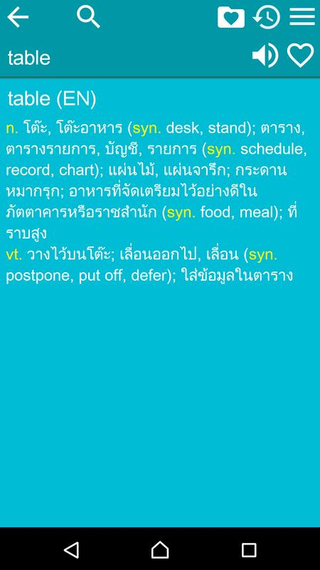 English thai dictionary free for android apk download.