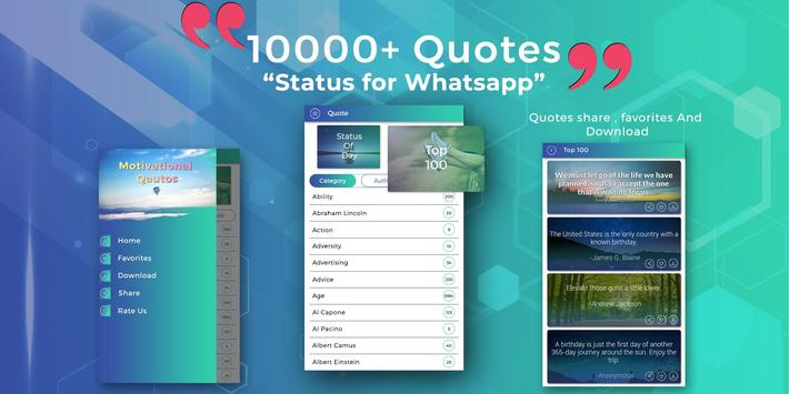 10000 Motivational Quotes - Status for WhatsApp poster