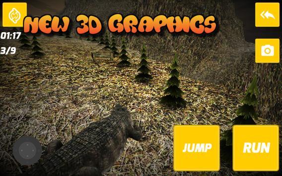 Wild Crocodile Run apk screenshot