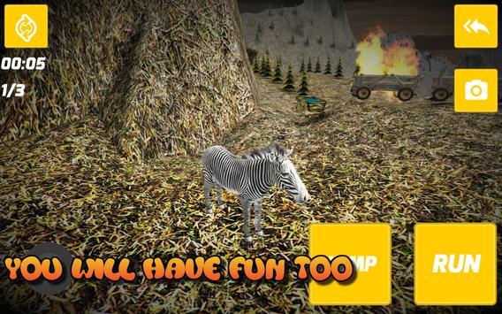 3D Wild Zebra poster