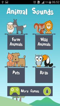Animal sounds for parents poster