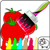 Fruits Coloring Book Game icon