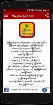 Myanmar Font Root poster