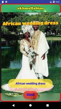 African wedding dress poster