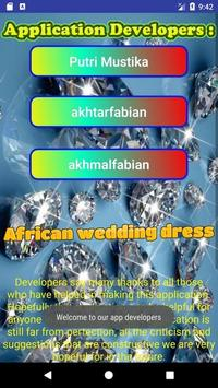 African wedding dress apk screenshot