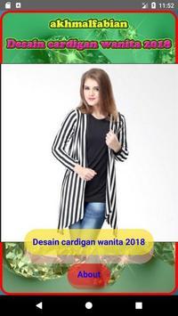 Design of women's cardigan 2018 poster