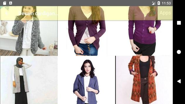 Design of women's cardigan 2018 apk screenshot
