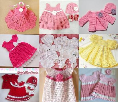 Girl crochet dress poster