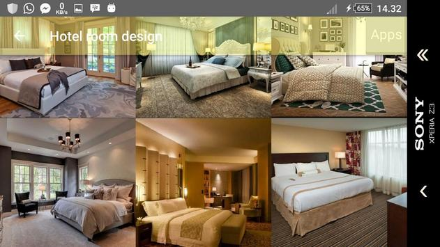 Hotel room design apk screenshot