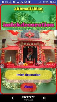 Imlek decoration poster