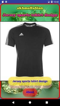 Jersey sports tshirt design poster