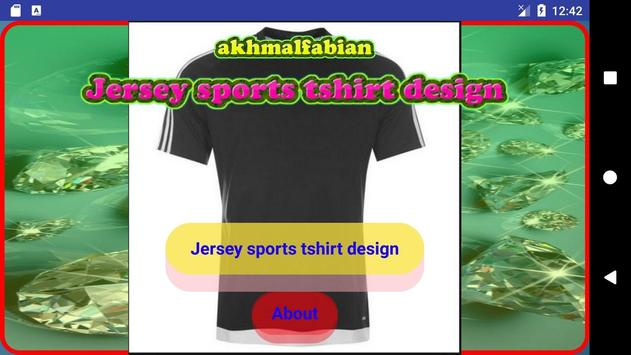Jersey sports tshirt design screenshot 1