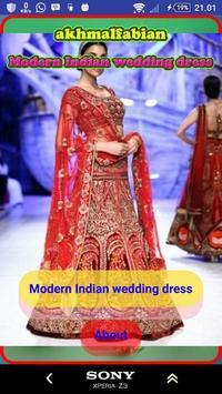 Modern Indian wedding dress poster