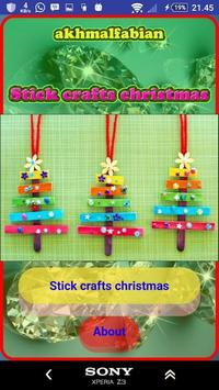 Christmas stick craft poster