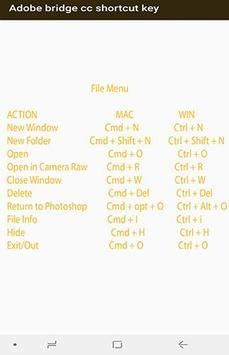 Adobe bridge cc shortcut key screenshot 2