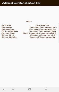 Adobe illustrator shortcut key screenshot 1