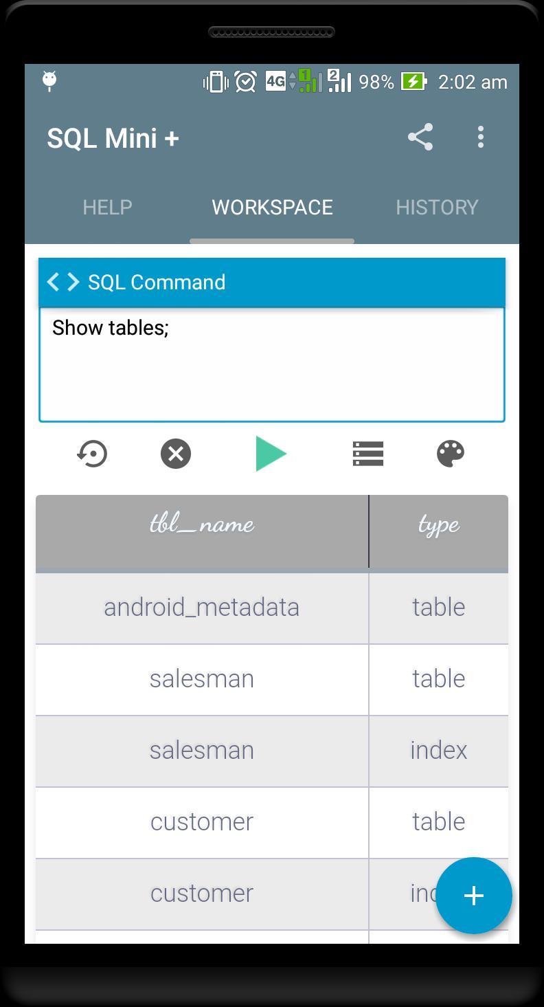 SQL Mini - SQLite Editor for Android - APK Download