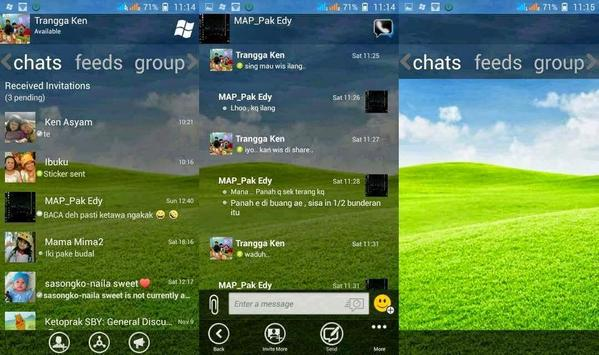 Dual BBM PIN Ganda Android apk screenshot