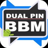 PIN Dual BBM icon