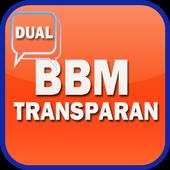 Dual BBM Transparan Pro icon