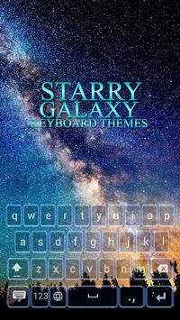 Starry Galaxy Keyboard Themes poster