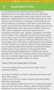 Pan Card Info screenshot 1