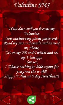 Valentine SMS apk screenshot