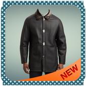 Leather Coat of Man Photo Suit icon