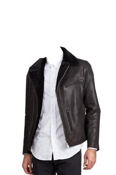 Leather Coat of Man Photo Suit poster