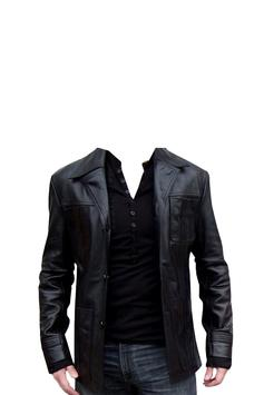 Leather Coat of Man Photo Suit apk screenshot