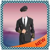 Pilot Man Photo Suit Editor icon