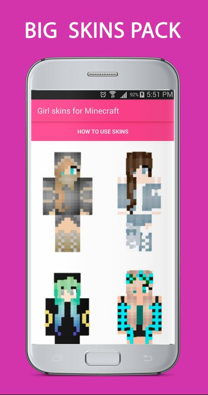 Chica Skins Para Minecraft Descarga APK Gratis Herramientas - Skins para minecraft pe chicas