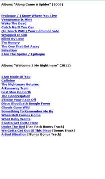 Alice Cooper Lyrics screenshot 1